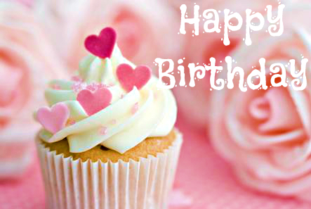 happy birthday pictures for ladies ; cupcake