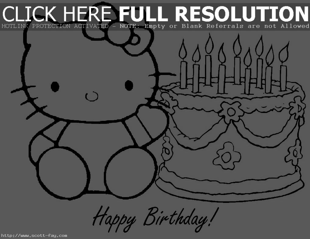 happy birthday pictures to color and print ; 14-happy-birthday-hello-kitty-coloring-pages-free-happy-birthday-color-print