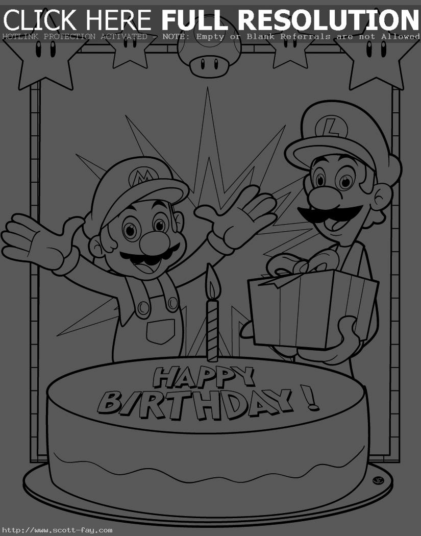 happy birthday pictures to color and print ; free-printable-happy-birthday-coloring-pages-for-kids-color-print