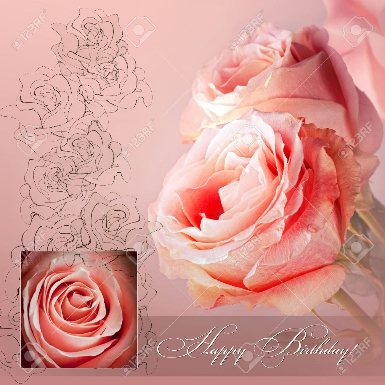 happy birthday pink roses ; 9613773-happy-birthday-greetings-with-pink-roses