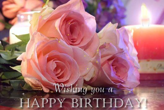 happy birthday pink roses ; Wishing-You-A-Happy-Birthday-Cute-Pink-Rose-Graphic