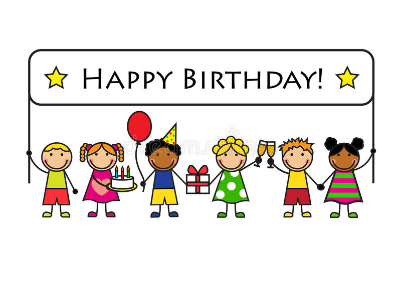 happy birthday posters for kids ; cartoon-kids-banner-birthday-gifts-posters-36849401