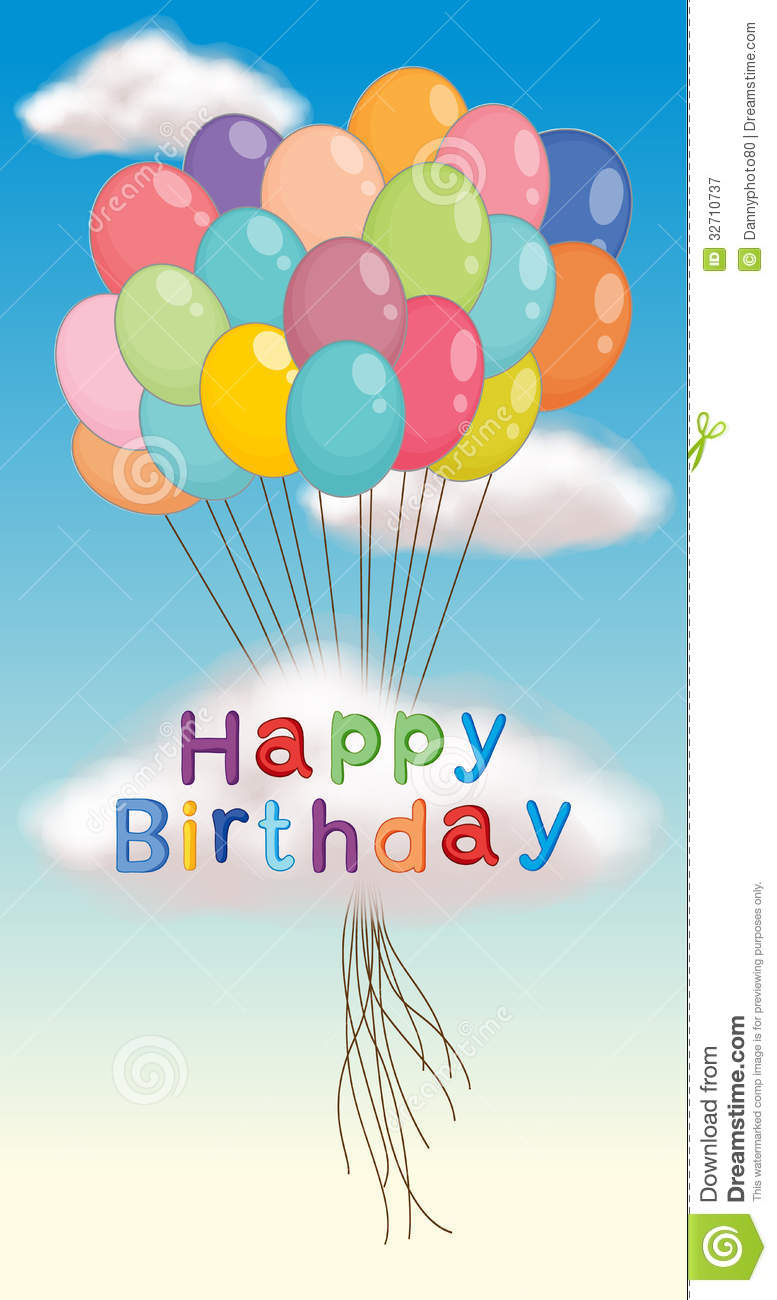 happy birthday posters free ; happy-birthday-poster-illustration-balloons-32710737