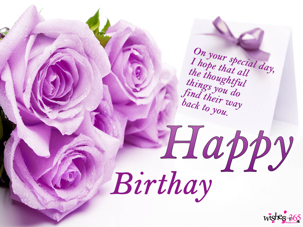 happy birthday purple roses ; Birthday-Image-with-Purple-Flowers-Rose-and-Purple-Ribbon-in-Card-weith-Background-with-Quotes