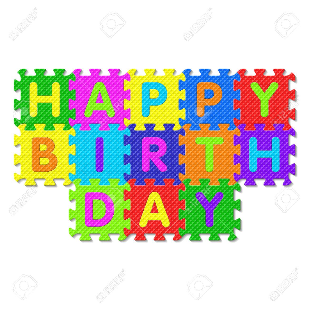 happy birthday puzzle ; 24507341-happy-birthday-alphabet-puzzle