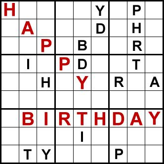 happy birthday puzzle ; birthday2