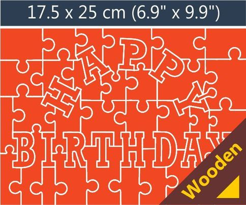 happy birthday puzzle ; happy-birthday-wooden