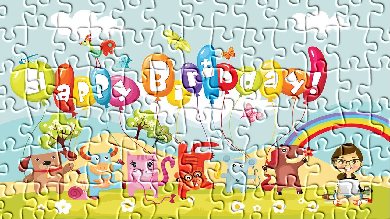 happy birthday puzzle ; maxresdefault