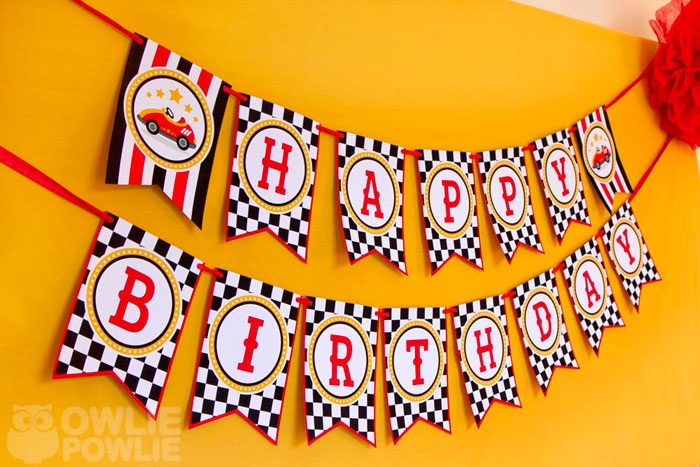 happy birthday racing banner ; A8a_BIRTHDAY_RACE_CAR_PARTY_04