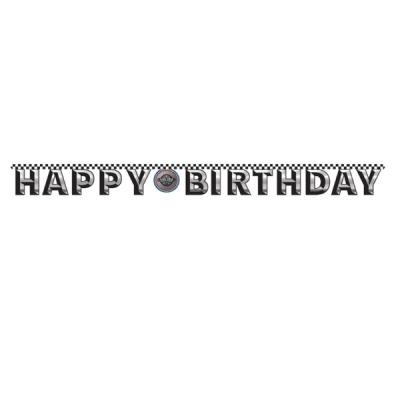 happy birthday racing banner ; racing-party-happy-birthday-letter-banner