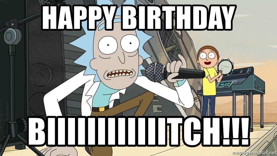 happy birthday rick and morty ; 67154239