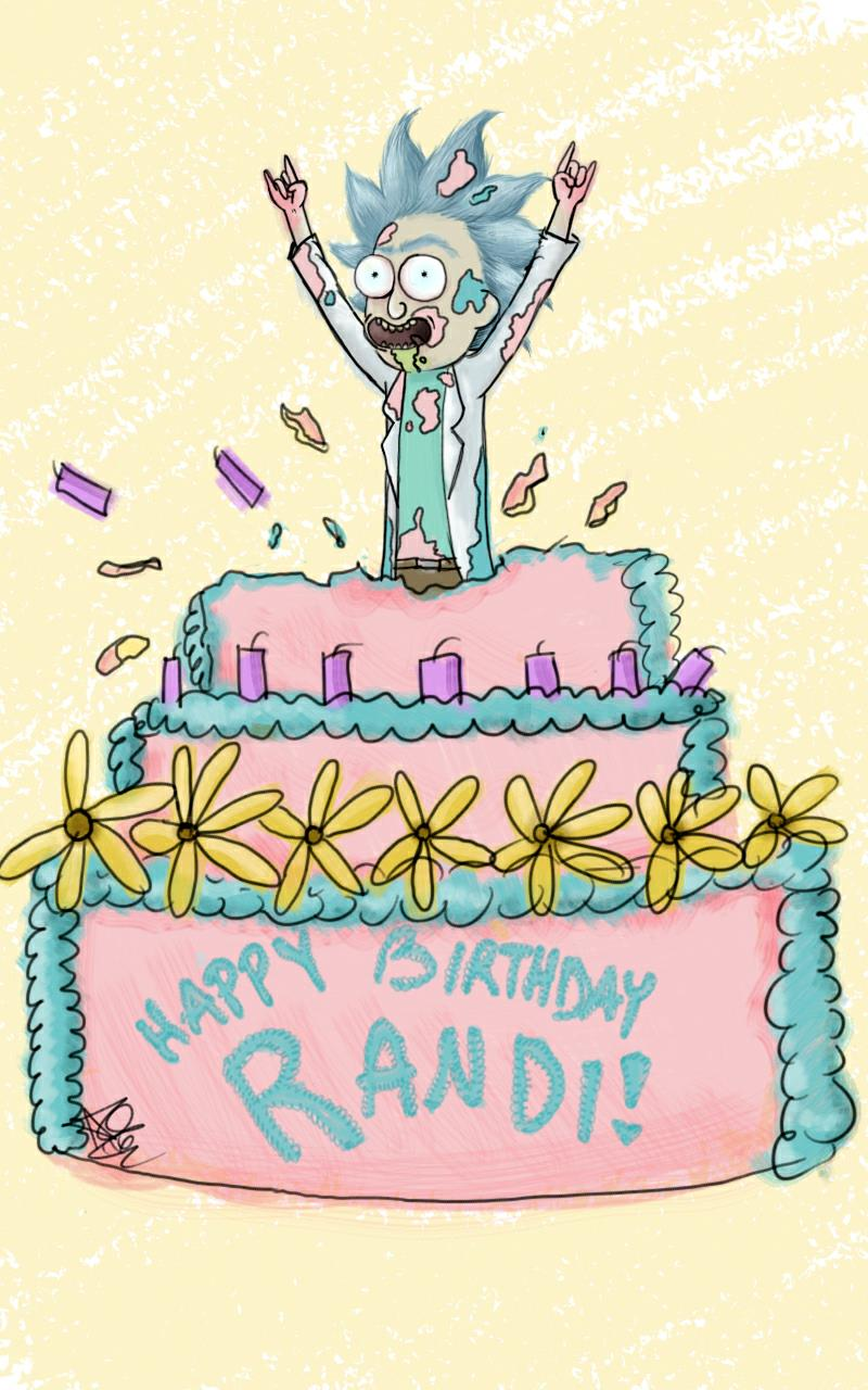 happy birthday rick and morty ; a