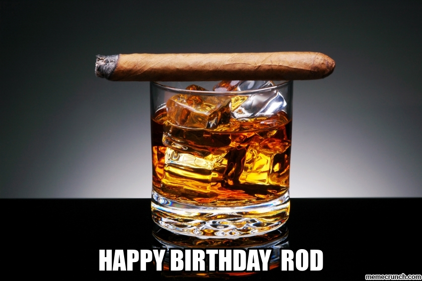 happy birthday rod ; image