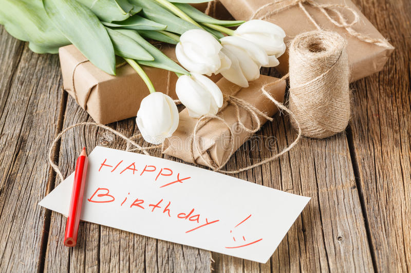 happy birthday rustic ; happy-birthday-mesage-flowers-rustic-table-flowers-69480239