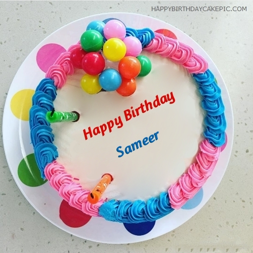 happy birthday sameer wallpaper ; colorful-happy-birthday-cake-for-Sameer