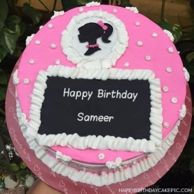 happy birthday sameer wallpaper ; decorated-strawberry-cake-for-Sameer