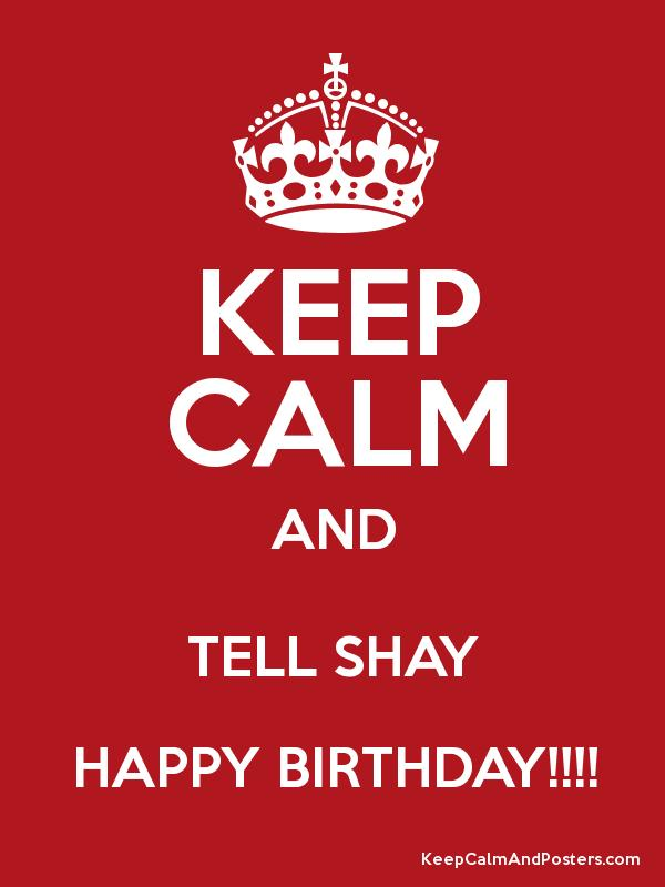 happy birthday shay ; 3775011