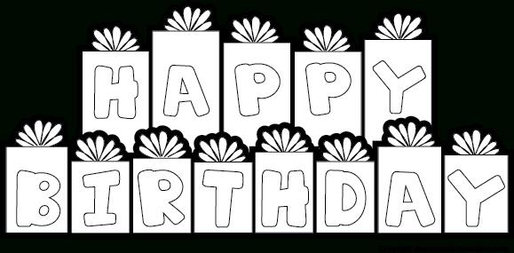 happy birthday sign black and white ; awesome-design-happy-birthday-clipart-black-and-white-banner-theveliger