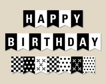 happy birthday sign black and white ; happy-birthday-banner-black-and-white-best-bussines-template-inside-happy-birthday-banner-black-and-white