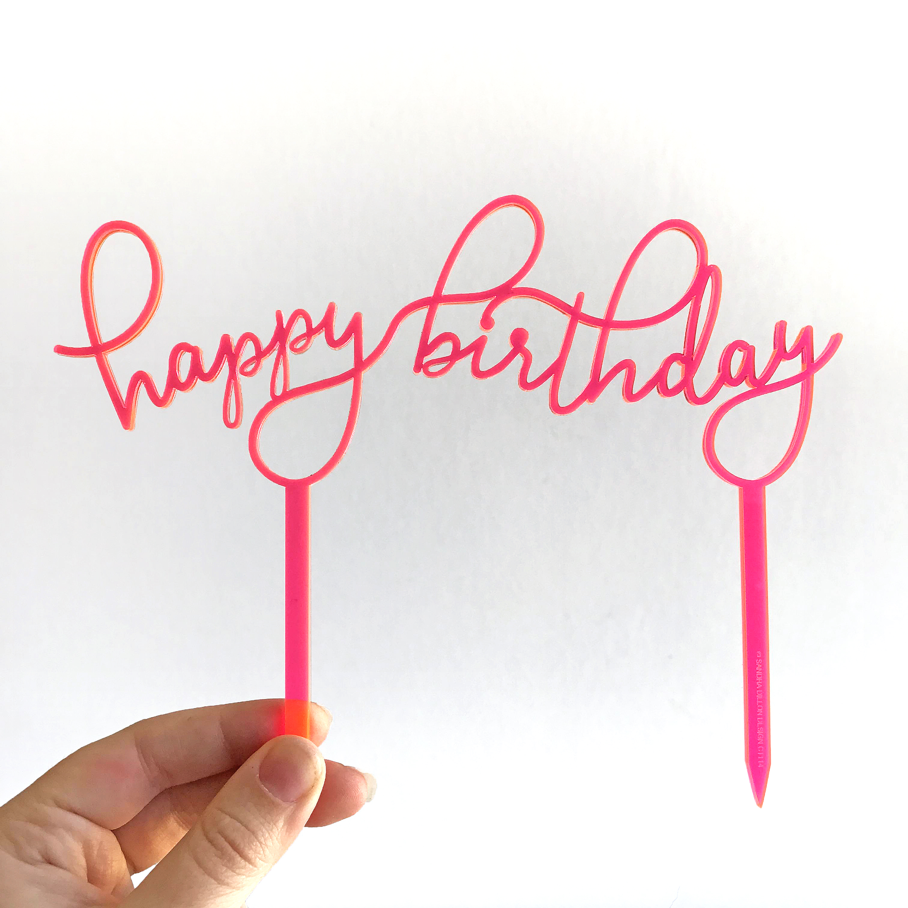 happy birthday sign cake toppers ; Floating-Happy-Birthday-Cake-Topper-Sandra-Dillon-Design