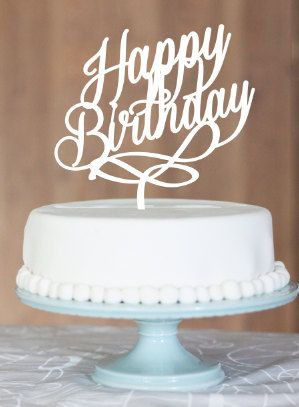happy birthday sign cake toppers ; birthday-cake-toppers-round-white-delicious-cake-with-chocolate-ball-happy-birthday-cake-topper-customise-message-name-by-communicakeit-45-usd