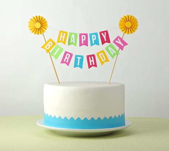 happy birthday sign cake toppers ; d54689ab73f9e72db270b18cbc8e0d35