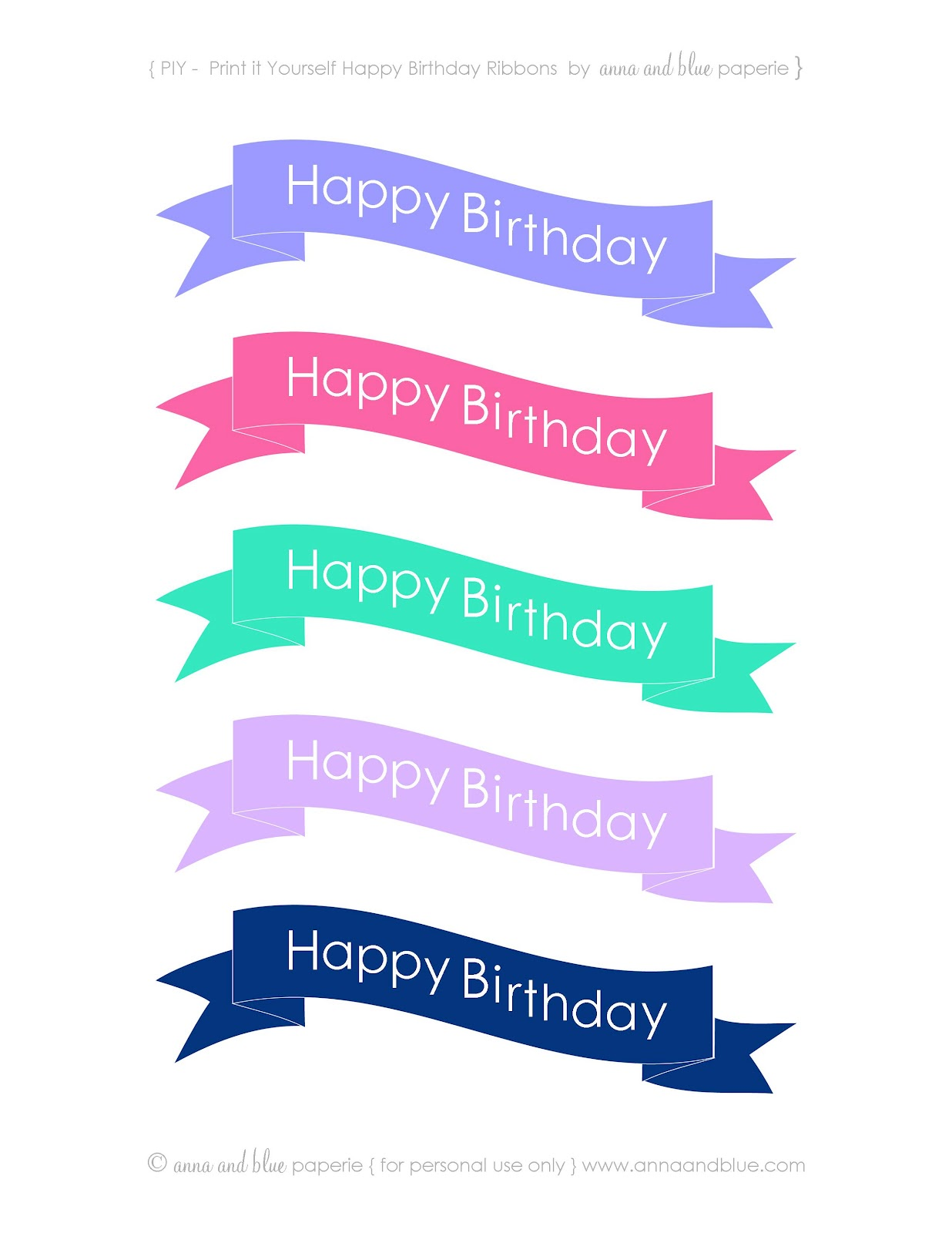happy birthday sign cake toppers ; happy-birthday-banner-cake-topper-printable-happy+birthday+ribbons+2