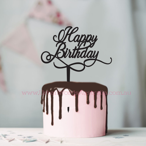 happy birthday sign for cake ; file