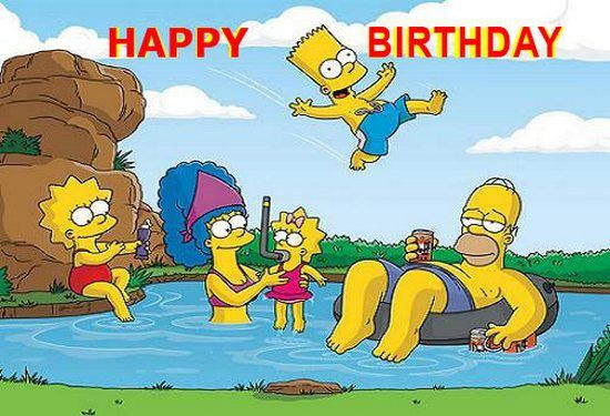 happy birthday simpsons ; 828ddca1a3d0924495aa412b582e6856