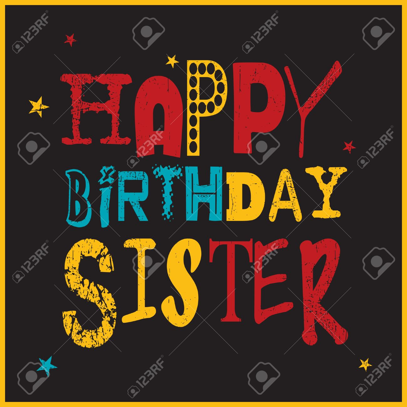 happy birthday sister clipart ; 57012836-retro-happy-birthday-card-happy-birthday-sister-vector-illustration