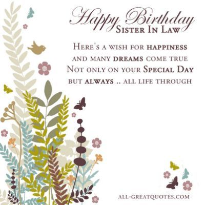 happy birthday sister in law quotes pictures ; bcec6af4bae95d8b521df238165c11b2