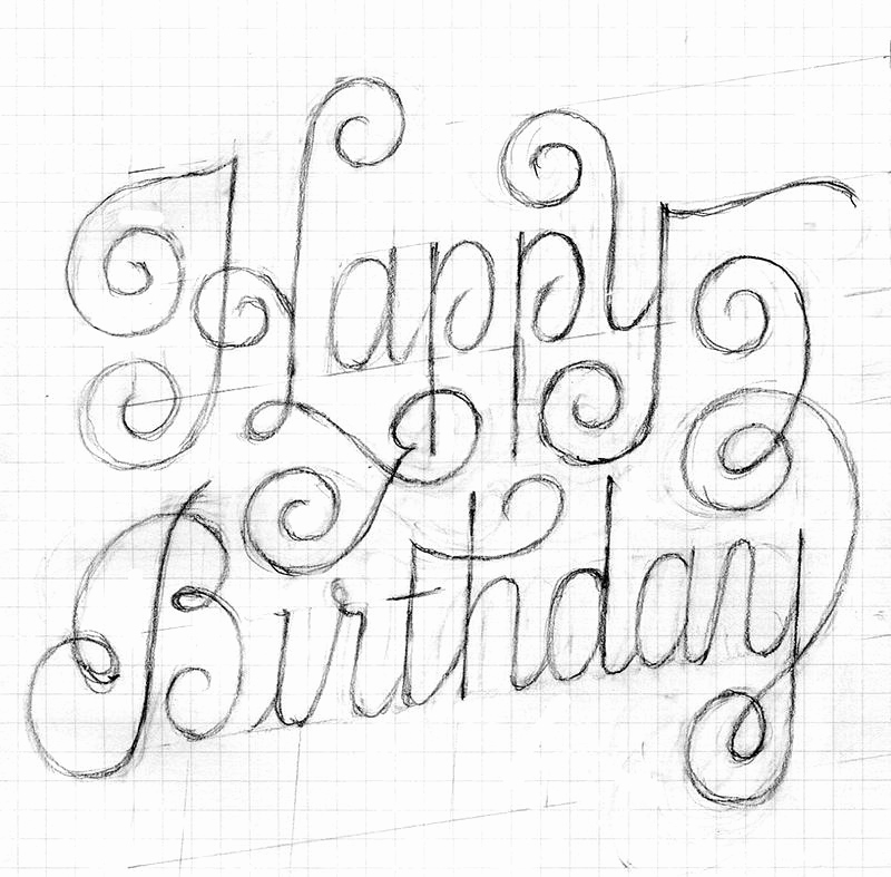 happy birthday sketch drawing ; sketch-of-birthday-card-lovely-happy-birthday-lettering-of-sketch-of-birthday-card