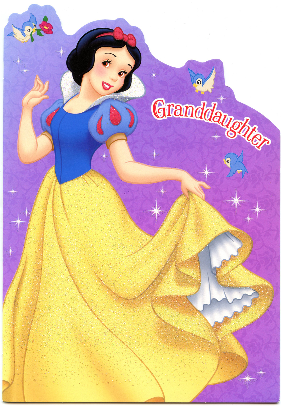 happy birthday snow white ; oct2012grandBDAYcrd1