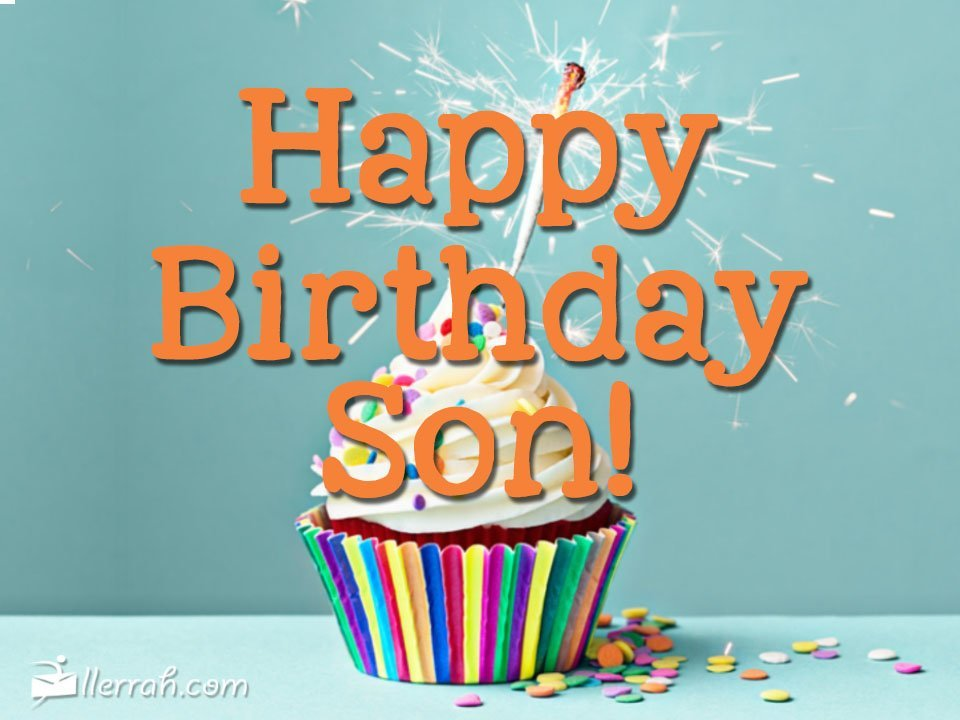 happy birthday son images ; postcard-happybirthdayson