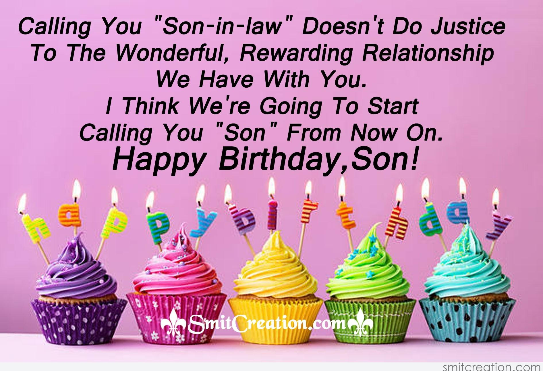 happy birthday son in law quotes ; 3819
