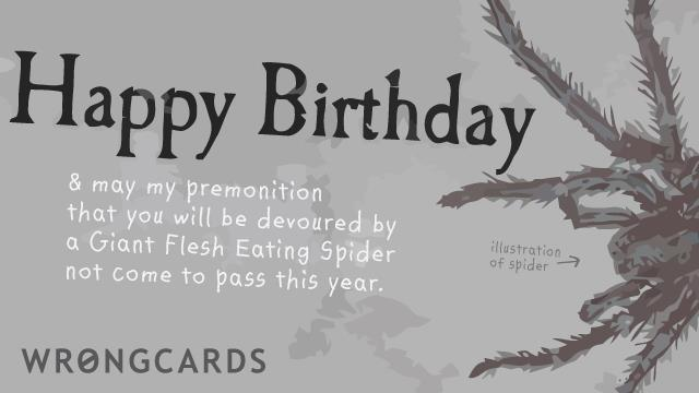 happy birthday spider ; 342