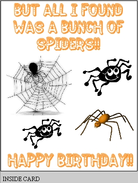 happy birthday spider ; birthday13_inside