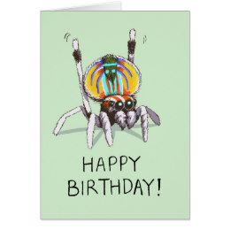 happy birthday spider ; cute_funny_peacock_spider_happy_birthday_card-r2a87fc93cb054d99bebc885a5e17f7ed_xvuat_8byvr_260