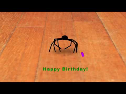 happy birthday spider ; hqdefault