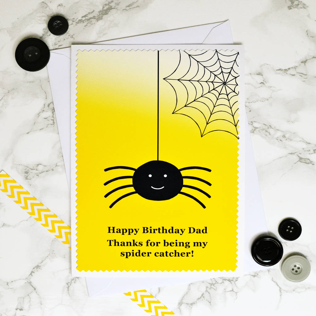 happy birthday spider ; original_spider-catcher-personalised-birthday-card