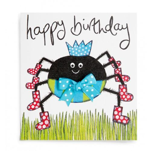 happy birthday spider ; spider-handmade-childrens-birthday-card-3013735-0-1378938837000
