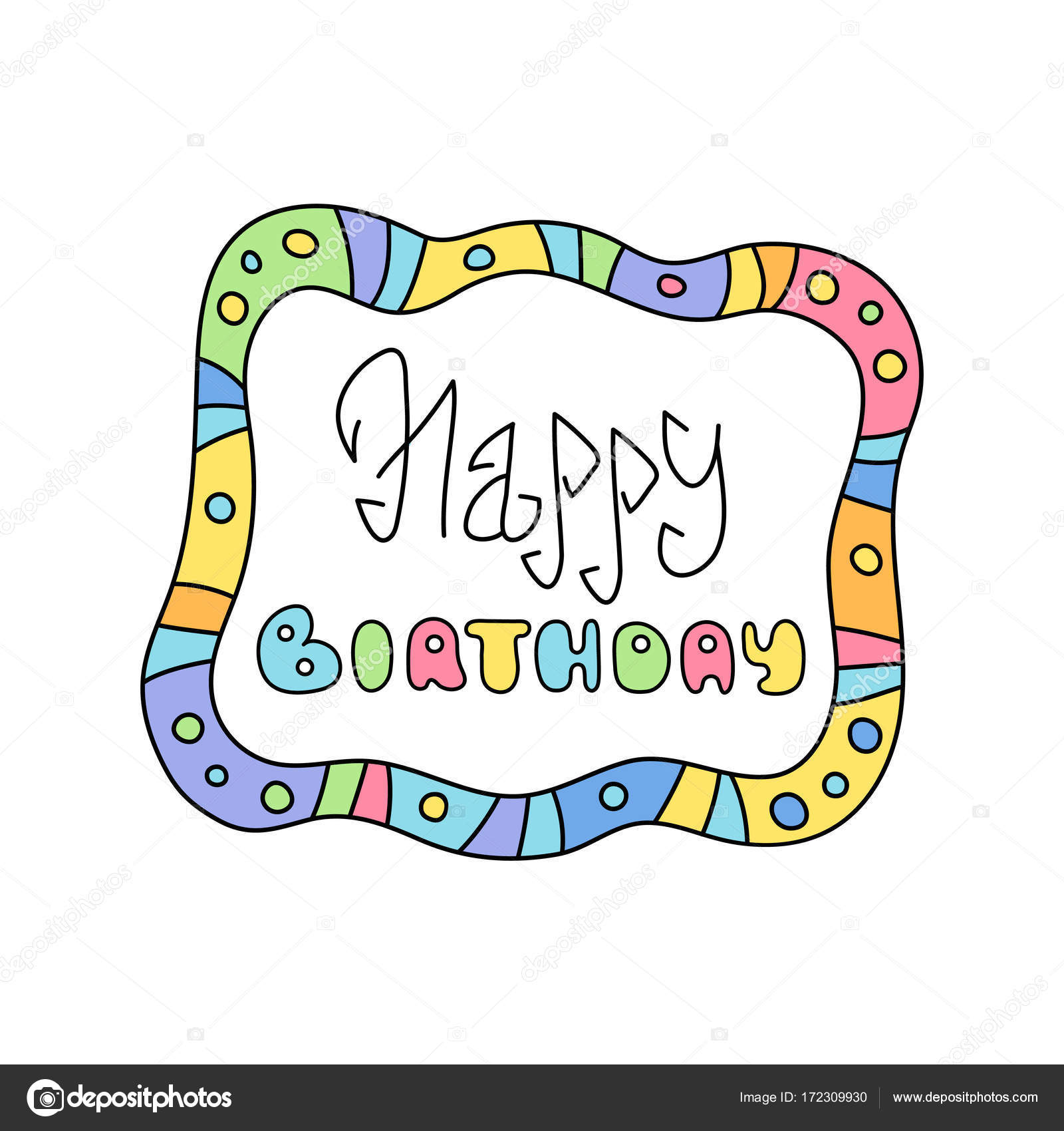 happy birthday sticker line ; depositphotos_172309930-stock-illustration-happy-birthday-cute-colorful-childish