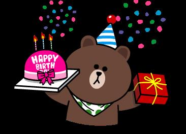 happy birthday sticker line ; stickerline-201406121055041