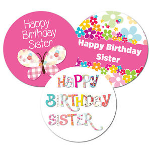 happy birthday stickers for sister ; s-l300