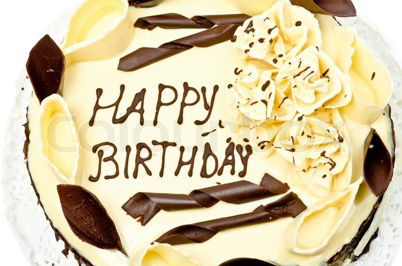happy birthday sunny wallpaper ; 3345558-779673-chocolate-cake-with-words-happy-birthday-on-it