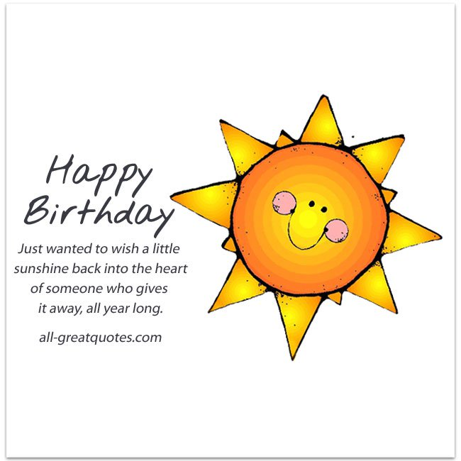 happy birthday sunshine ; Just-wanted-to-wish-a-little-sunshine-Free-Birthday-Cards