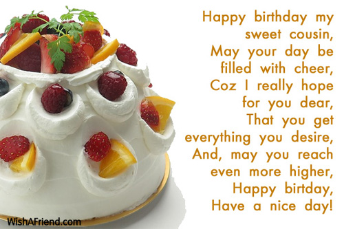 happy birthday sweet cousin ; 8321-birthday-messages-for-cousin