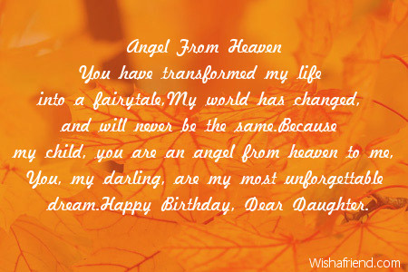 happy birthday to my angel in heaven ; 1973-daughter-birthday-poems