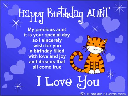 happy birthday to my aunt greeting cards ; 1cc1fc1ce492f776abf2e1586482798e