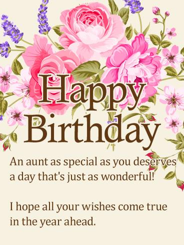 happy birthday to my aunt greeting cards ; 9ecd0ce91bd3e2400493a6ebf775ca37
